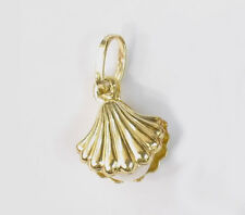 14k solid gold Sea Shell with Pearl pendant  #104