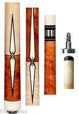 New Pechauer JP14-N Danish Stained Cue - 12.50mm Shaft - FREE 2x2, Extras & SHIP