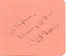 Cyril Fletcher + Lady Isobel Barnett signed autograph album page What's My Line?