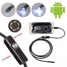 1.5M Android Endoscope Waterproof Borescope Inspection Camera 6 LED Micro USB TR