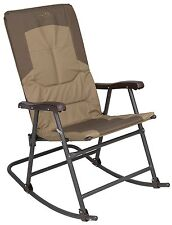 Camping Rocking Chair Outdoor Folding Travel Camping Steel Frame Patio Furniture