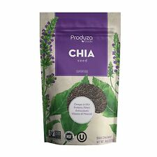 Produza Chia Seeds Premium Black - 8 oz - NON GMO, NSF and Kosher Certified
