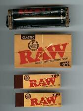 RAW 2 way Adjustable 70mm Rolling Machine PLUS Single Wide Paper PLUS 2 PKS TIPS