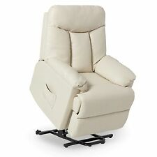 Power Lift Recliner Leather Furniture Home Theater Chair Assist Renu Lazy Boy
