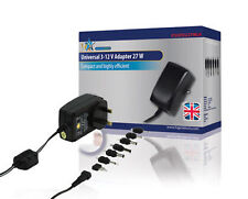 HQ Universal AC/DC Adapter 3V-12V 27 Watts and 2250mA Max Output