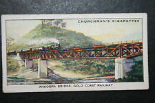 Gold Coast Railway  Ankobra Bridge  Ghana   1930's Vintage Card