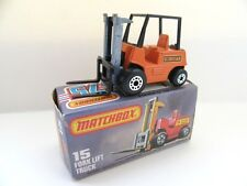 Matchbox Superfast 15b Fork Lift Truck- HI LIFT - Mint/Boxed