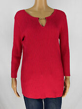 INC International Concepts Womens Red Embellished Sweater Top Size L