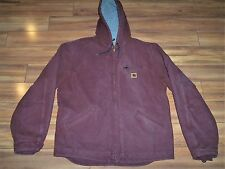 CARHARTT SHERPA FLEECE LINED WINTER COAT JACKET GENTLY USED EXTRA LARGE HOODED