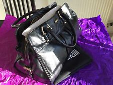 JUST CAVALLI 100% AUTHENTIC BLACK LEATHER HANDBAG RRP £675 WITH DUST- BAG