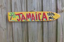 JAMAICA - TROPICAL TIKI DIRECTIONAL DESTINATION ARROW POOL ISLAND POINTER SIGN