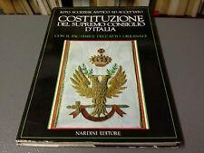 RITO SCOZZESE ANTICO E ACCETTATO, COSTITUZIONE DEL SUPR. CONS D'ITALIA  -LIB
