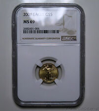 2008 G $5 AMERICAN EAGLE Five Dollar GOLD Coin | NGC MS 69 No Reserve GOLD |6966