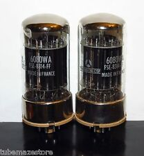 Matched Pair 2x Thomson-CFS NOS/NIB 6080WA black plates tubes - France Test NOS