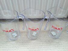 3 X Pimm's Plastic Cocktail Pitchers/Jugs