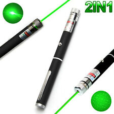 2IN1 High Power 10mW 532nm Green Beam Laser Pointer Lazer Projector Pen Teaching