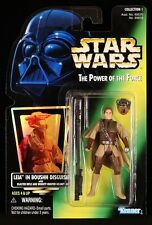 1996 KENNER STAR WARS POTF GREEN CARD LEIA IN BOUSHH DISGUISE COLL 1 HOLO MOC