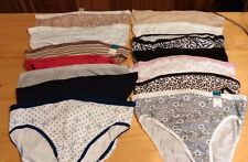 Women's PLUS Size 9 2X Cotton NEW/NWT LOT of 50 Panties Patterned/Solid Assorted