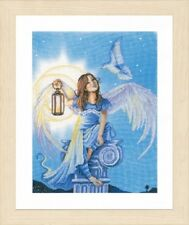Angel in the Night - Lanarte Counted Cross Stitch Kit w/27 Ct. Evenweave