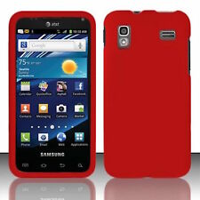 For Samsung Captivate Glide i927 Rubberized HARD Case Snap Phone Cover - Red
