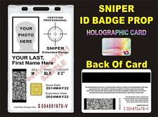 SNIPER ID Badge Prop *CUSTOM* Similar to: USMC, ARMY CAC ID Card - PAINTBAll?