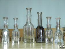 6x Biedermeier FLASCHE ARZNEIFLASCHE Medizinflasche Lausitz Glas Apotheke Arzt