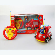 Cartoon RC Fire Engine Truck Car Figure Music Light Toy Remote Control Toddlers