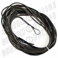 """50' x 3/16"""" AmSteel-Blue Mainline Synthetic Winch Rope Line Thimble CHARCOAL ATV"""
