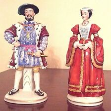Antique Sitzendorf Dresden Henry VIII with wife Ann Early 1900s