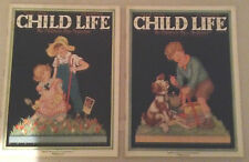 LOT OF 17 VINTAGE CHILD LIFE MAGAZINES,  1925 TO 1930 EX. COND.