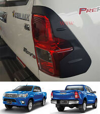 Toyota Hilux REVO 2015 2016 SR5 WorkMate SR Matte Black Tail Lights Cover Trims