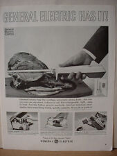 1965 General Electric Automatic Knife Skillet Iron Vintage Print Ad 10345
