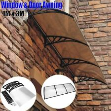 40'' x 106'' Outdoor Polycarbonate Front Door Window Awning Patio Cover Canopy