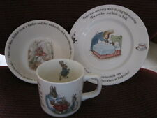 Wedgwood Wedgewood Peter Rabbit Beatrix Potter Plate Bowl & Mug Cup 1985 NICE
