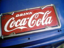 RARE 1930's COCA COLA DELIVERY TRUCK LICENSE PLATE       LOOK