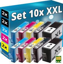 10x CHIP PATRONEN für HP-364XL B010A B109a B109n B110a B110c B209a B209b B210a