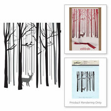SPELLBINDERS 3D SHADING SNOW FOREST Holiday Winter Deer Wood Mounted Stamp