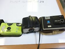 Lot of 3 Vintage Minolta, Kodak, Racket Spartus Camera Multiple