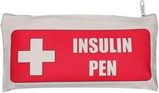 Insulin Pen  - Natural Cotton Zip Case - SUPPLIED EMPTY