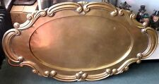 Huge 4.5-ft Brass Metal Tray Table - For Wedding Decor or Retail Sign