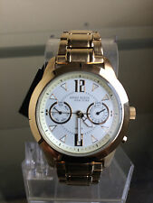 NIB ANNE KLEIN New York Two Gold Tone Multifunction Swiss Ladies Watch