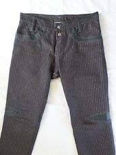 NASTY PIG black pinstripe denim neoprene sexy straight leg pants jeans 34x32