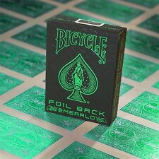 Bicycle Foil Back Emerald Playing Cards Deck Brand New Sealed