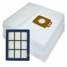 10 x Cloth Bags + H12 HEPA Filter for Nilfisk Power P40 + Allergy Vacuum Hoover