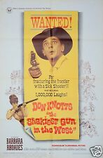 1968 THE SHAKIEST GUN IN THE WEST 1SH ORIGINAL MOVIE POSTER DON KNOTTS WESTERN