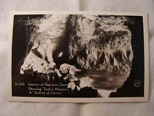 Interior of Sea Lion Caves real picture postcard Oregon