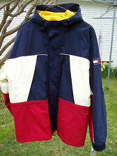 NWT Big Logo Tommy Hilfiger Men's XL Colorblock Puffer Windbreaker Jacket VTG