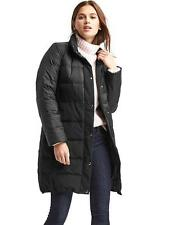 NWT $168 GAP True Black XXL Women's Long Down Puffer Coat Jacket