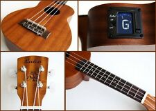 Laka VUS50 Soprano Ukulele with Onboard Chromatic Tuner With Aquila Strings