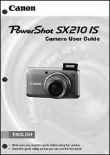 Canon Powershot SX210 IS Digital Camera User Instruction Guide  Manual
